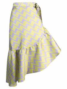 Cynthia Rowley Evanston zigzag print skirt - Purple