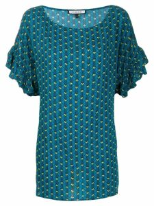 Fisico geometric print long blouse - Blue