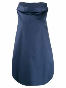 Blanca ballon-styled evening dress - Blue