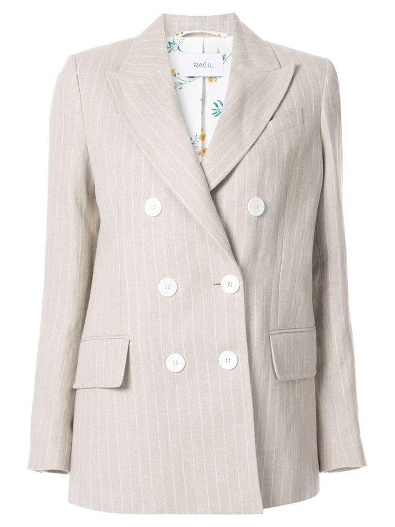 Racil classic double-breasted blazer - Neutrals