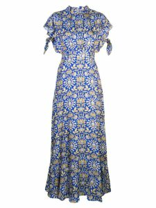 Cynthia Rowley Talia flutter sleeve dress - Blue