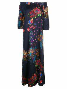 Cynthia Rowley Roseland off-the-shoulder dress - Multicolour