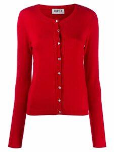 Liu Jo classic slim-fit cardigan - Red