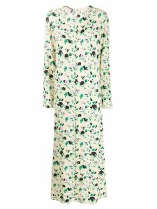 Plan C floral print long dress - Yellow