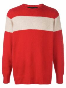 The Elder Statesman striped racing jumper - Red