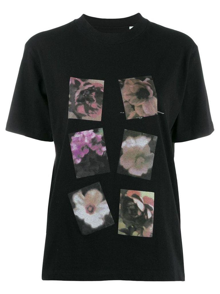 Off-White floral print T-shirt - Black