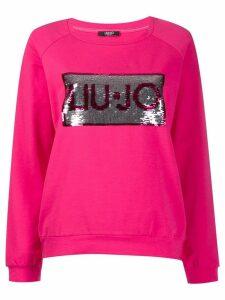 Liu Jo Cassiopea logo sweatshirt - Pink