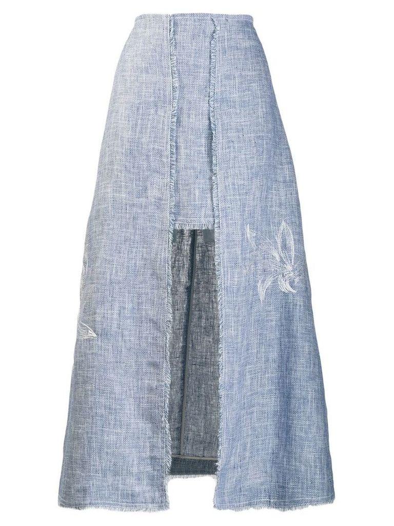 Lorena Antoniazzi A-line midi skirt - Blue