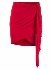 Alexandre Vauthier asymmetric drape skirt - Red