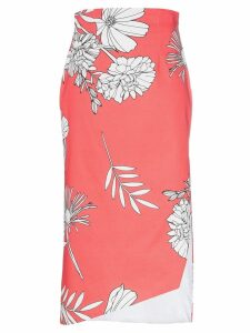 Silvia Tcherassi Gimme floral slit midi skirt - Red