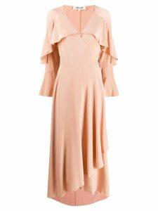 Diane von Furstenberg ruffled midi dress - Neutrals