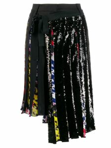 Iceberg asymmetric pleated skirt - Black