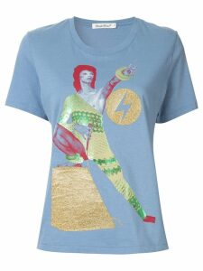 UNDERCOVER Bowie print T-shirt - Blue