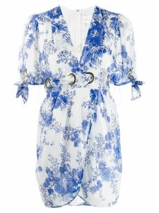 Alice McCall rose print mini dress - Blue