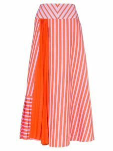 Silvia Tcherassi Brezo pleated striped skirt - Pink