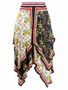 Alice+Olivia scarf print skirt - Black