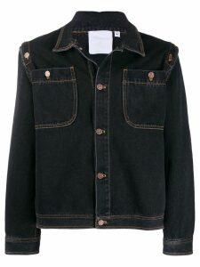 Telfar classic denim trucker jacket - Black