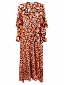 Dvf Diane Von Furstenberg floral print wrap dress - Black