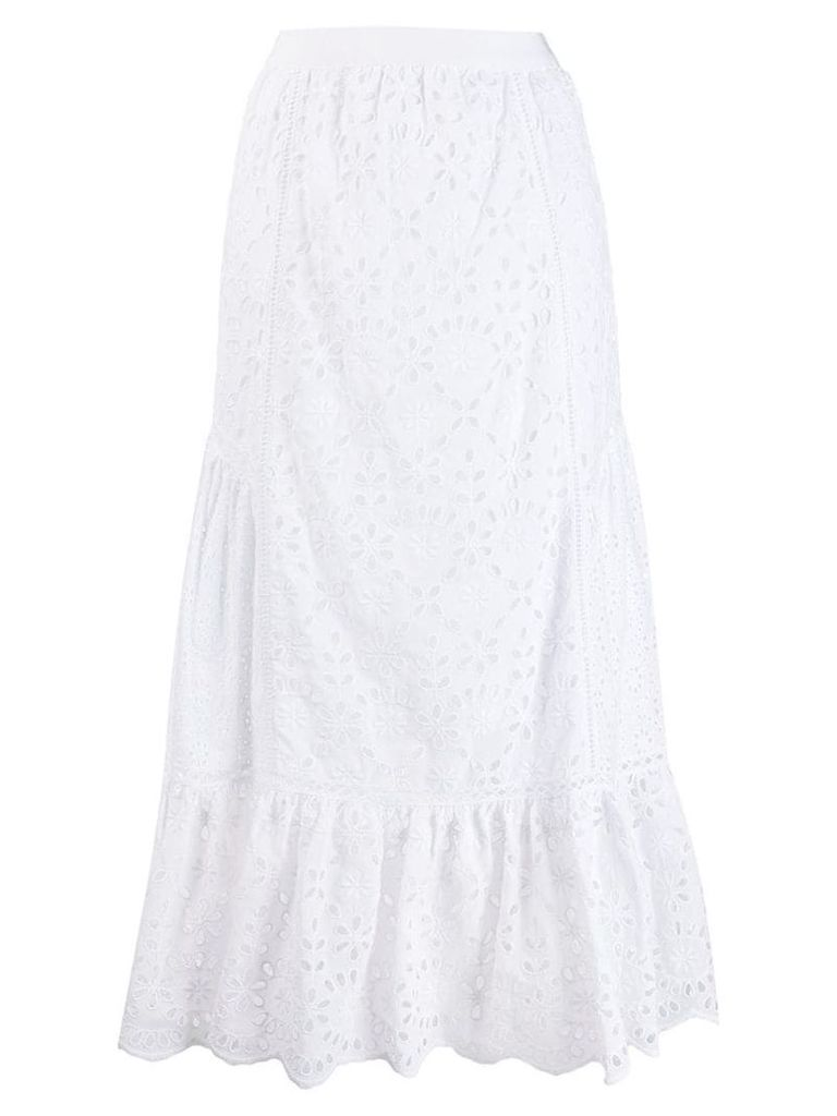Ermanno Scervino broderie anglaise skirt - White