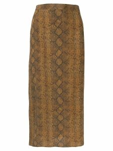 Rokh snakeskin print skirt - Brown