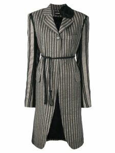 Ann Demeulemeester striped coat - Grey