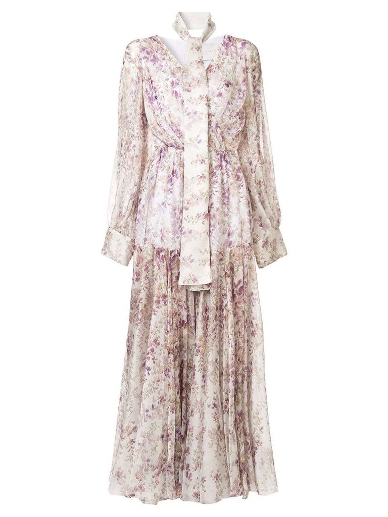 Ingie Paris floral print dress - White