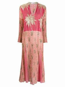 Ailanto embellished palm tree dress - Pink