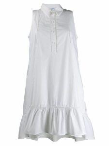 Blumarine high-low shirt dress - White