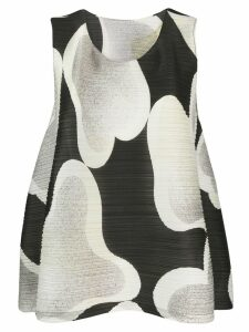 Pleats Please By Issey Miyake printed plissé top - Black