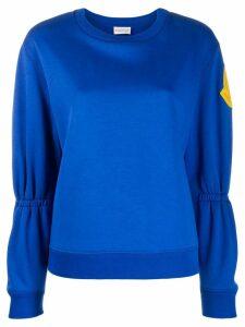 Moncler gathered sleeve sweatshirt - Blue