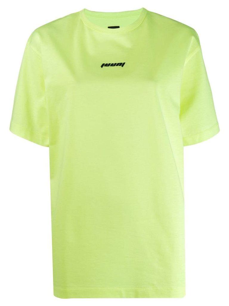 Juun.J contrast logo T-shirt - Yellow