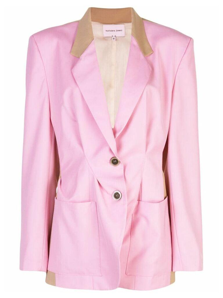 Natasha Zinko classic fitted blazer - Pink