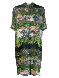 Ailanto all-over print shirt dress - Green