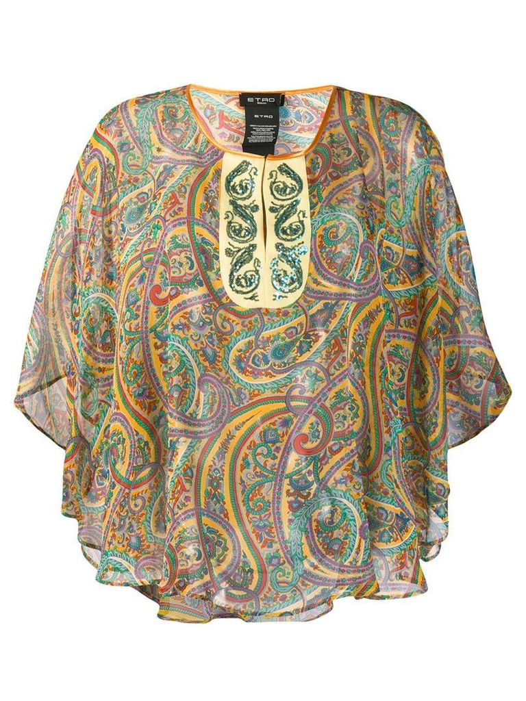 Etro paisley print blouse - Yellow
