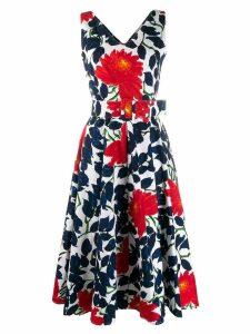 Samantha Sung floral print midi dress - Blue