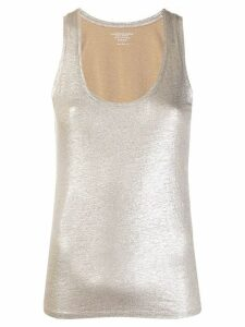 Majestic Filatures metallized tank top - Silver