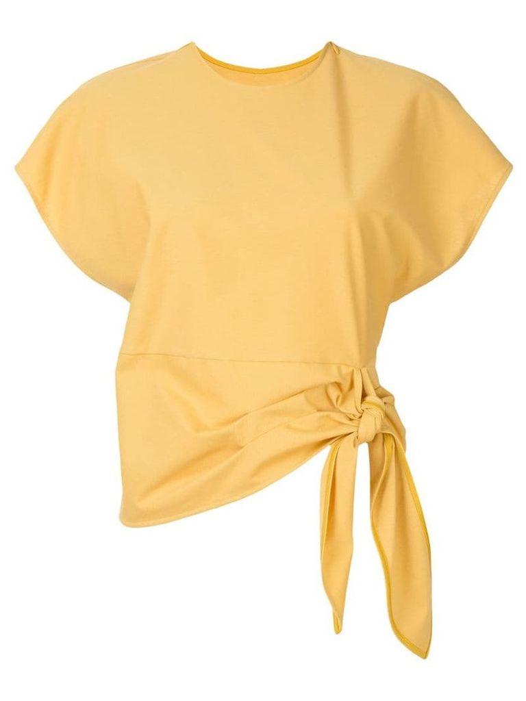 Le Ciel Bleu tie front top - Yellow