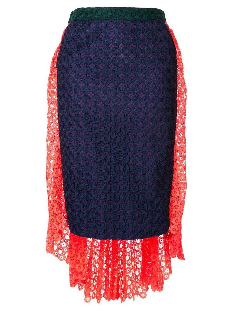 Facetasm lace panelled skirt - Multicolour