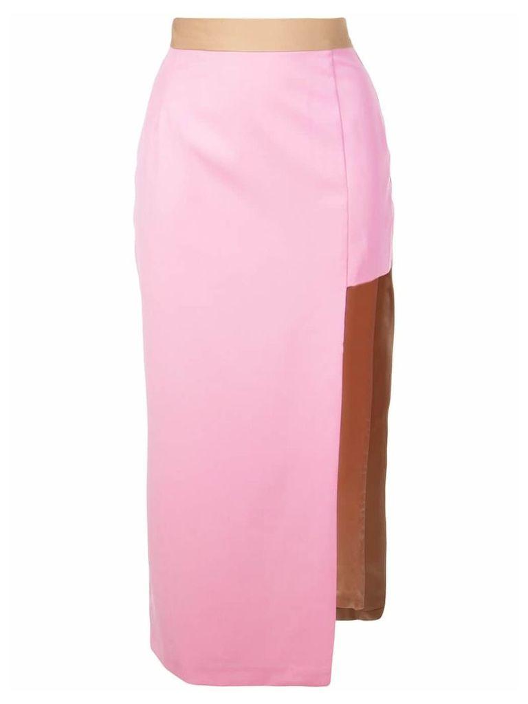 Natasha Zinko asymmetric fitted skirt - Pink