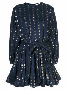 Rhode Resort heart print flared dress - Blue