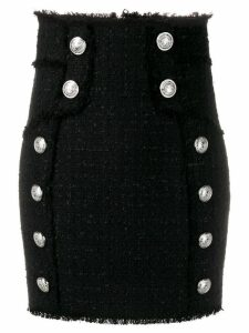 Balmain high waisted tweed skirt - Black