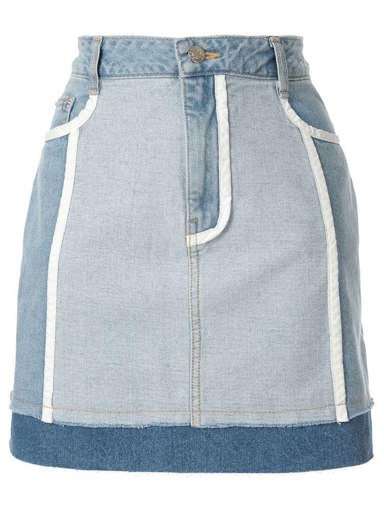 SJYP white lined denim skirts - Blue