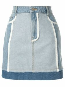 SJYP white lined denim skirts - Blue