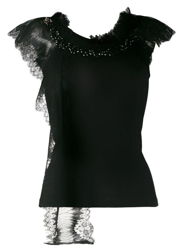 Antonio Marras lace detail T-shirt - Black