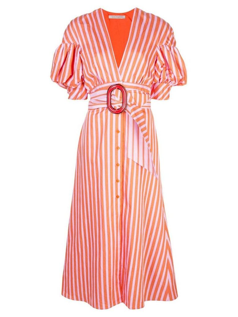 Silvia Tcherassi striped flared belted dress