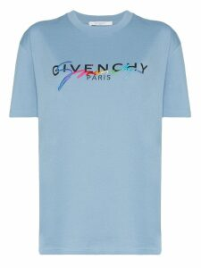 Givenchy logo printed T-shirt - Blue