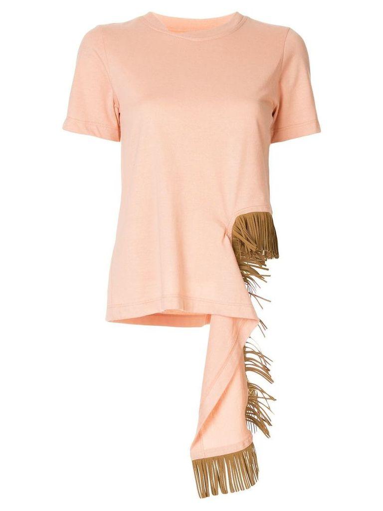 Facetasm fringe embellished T-shirt - Pink