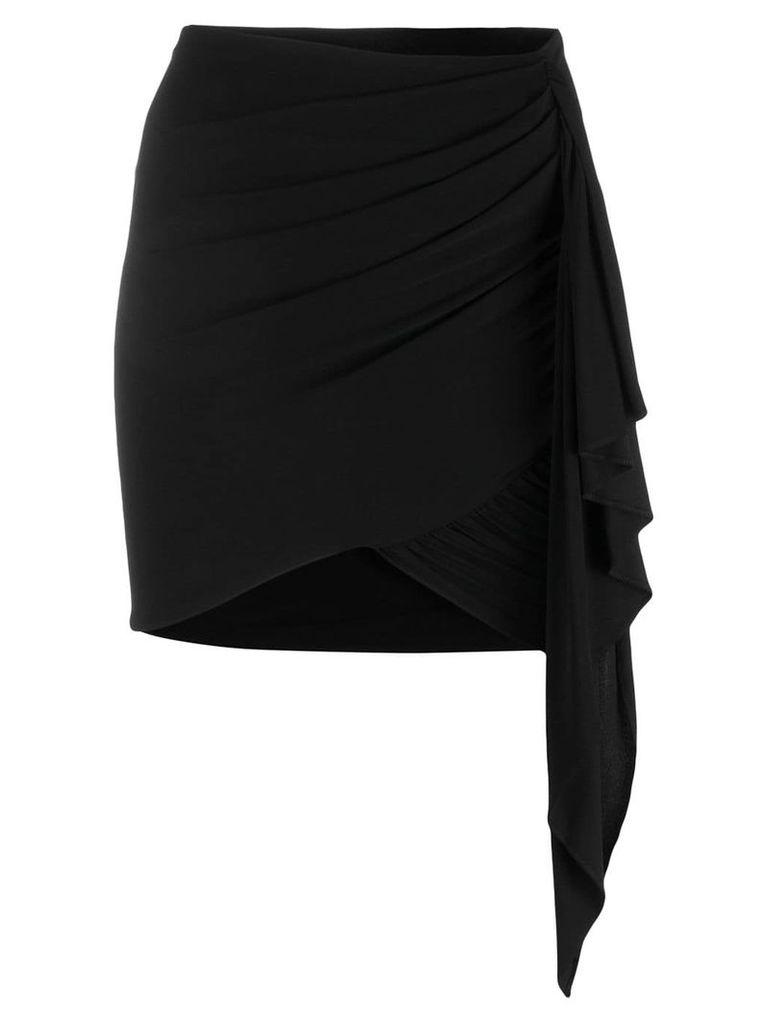 Alexandre Vauthier asymmetric drape skirt - Black