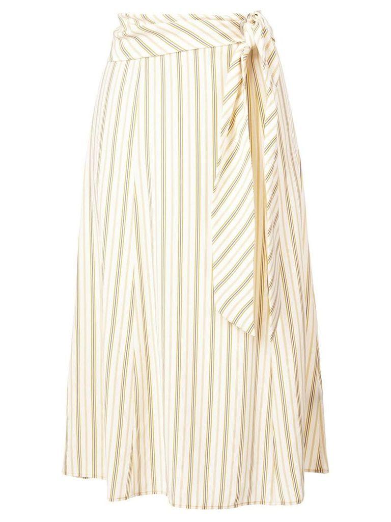 Rag & Bone striped belted skirt - Yellow