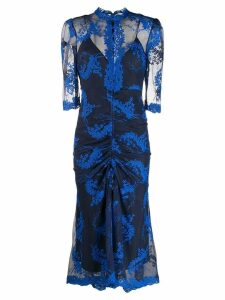 Alice Mccall sheer embroidered dress - Blue